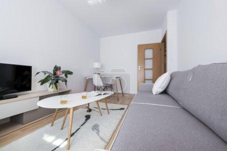 Modern, white interior design room