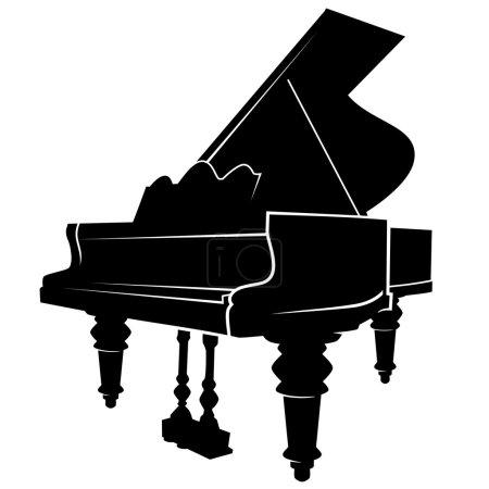 Illustration pour Image vectorielle simple piano - image libre de droit