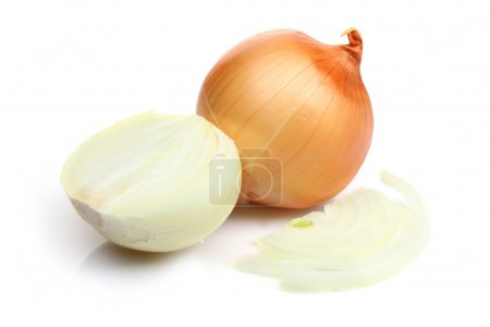 Photo for Onions isolated on white background - Royalty Free Image
