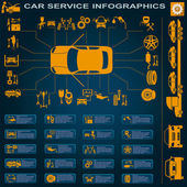 Car service repair Infographics
