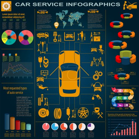 Car service, repair Infographics