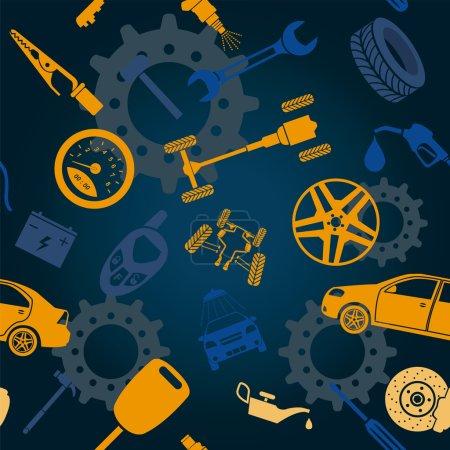 Photo pour Service de voiture et certains types de fond de transport. Illustration vectorielle - image libre de droit