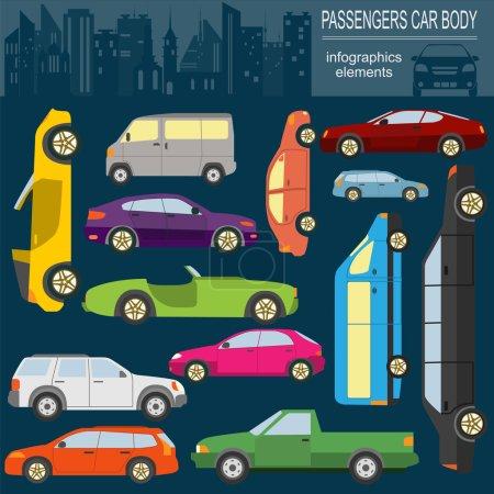 Illustration pour Voiture, infographie des transports. Illustration vectorielle - image libre de droit