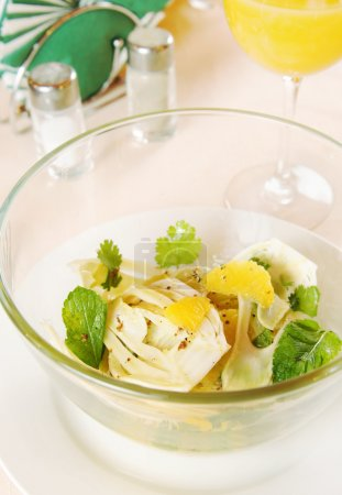 Salad made of fennel and oranges