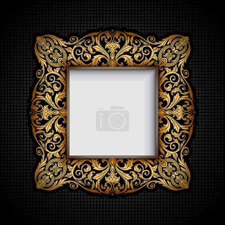 Photo for Vintage ornamental frame, rich, royal, luxury, creative design - Royalty Free Image