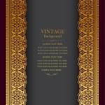 Vintage background design, elegant book cover, vic...