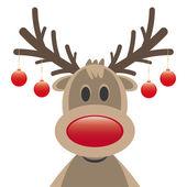 Rudolph Rentier Rot Nase Weihnachtskugel