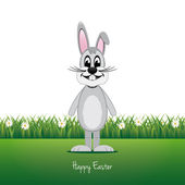 šedý králíček louka daisy Veselé Velikonoce, samostatný