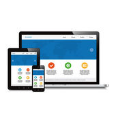 mobile, tablet and laptop responsive webdesign isolated backgrou
