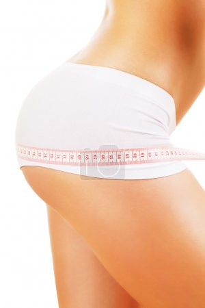 woman hips and tapemeasure