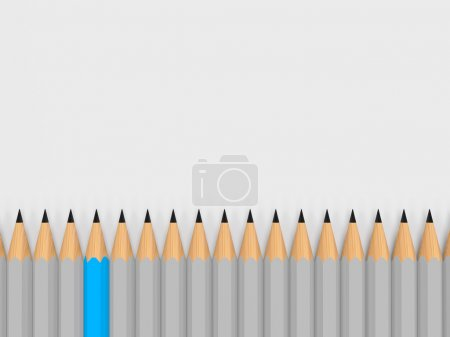 Photo for Single color pencil stand out of the crowd - Royalty Free Image