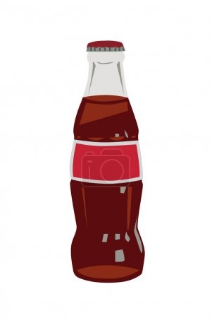 Illustration for Coca-cola a vector illustration - Royalty Free Image