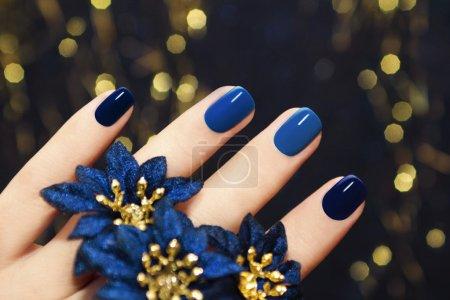 Blue lacquer.
