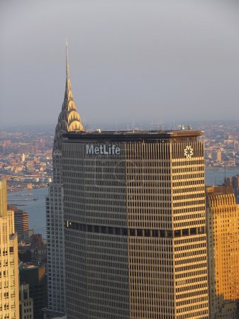 Photo pour Vue de New York depuis le sommet du rocher - image libre de droit