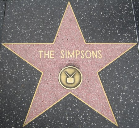 Photo for The Simpsons' Star at the Hollywood Walk of Fame in Hollywood, California - Royalty Free Image