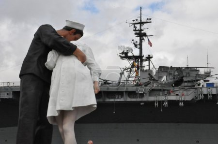 Unconditional Surrender Statue in San Diego, California
