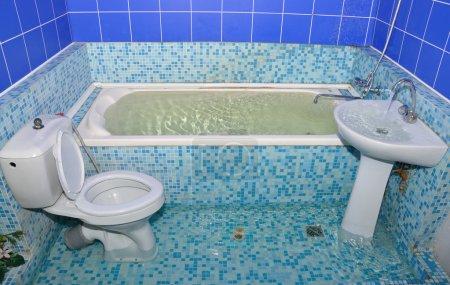flood in the bathroom