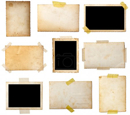 Photo for Collection of various old photos on white background. each one is shot separately - Royalty Free Image