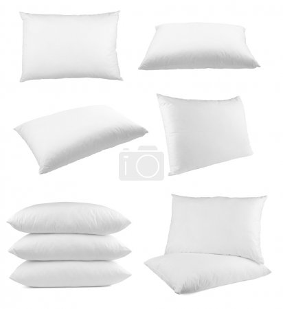 Photo for Collection of pillows on white background. each one is shot separately - Royalty Free Image