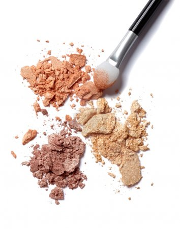 Photo for Close up of a make up powder on white background - Royalty Free Image