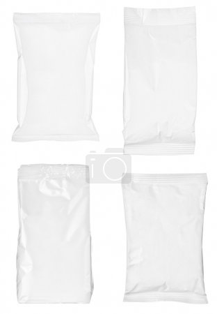 white paper bag package