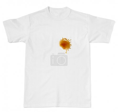 Photo for Wine stainon white t shirt - Royalty Free Image