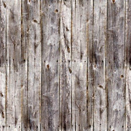 Photo pour Vieilles planches de clôture grises sans couture texture bois - image libre de droit