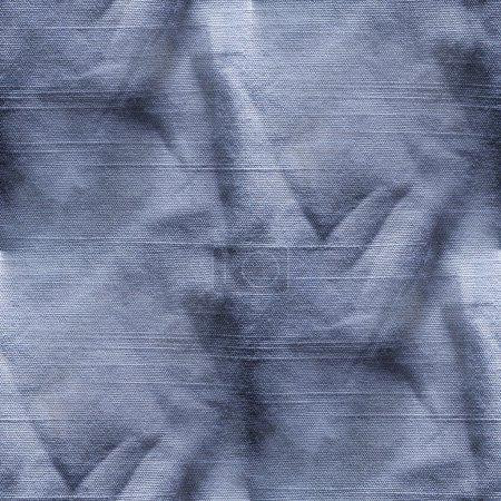 Photo pour Vieux Blue-Jeans ridée seamless texture - image libre de droit