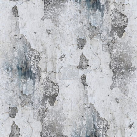 Photo for Seamless wallpaper stone old gray texture wall with crack background - Royalty Free Image