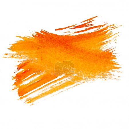 orange watercolors spot blotch isolated on white background