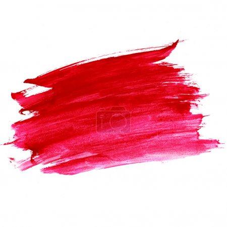 Foto de Pincel acuarela trazos rojos con espacio para su propio texto - Imagen libre de derechos