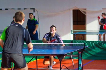 Uryupinsk RUSSIA - March 17: Athlete tennis, ping pong, Ruslan K