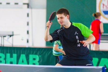 URYUPINSK- RUSSIA - MARCH 17: athlete table tennis, ping-pong, S