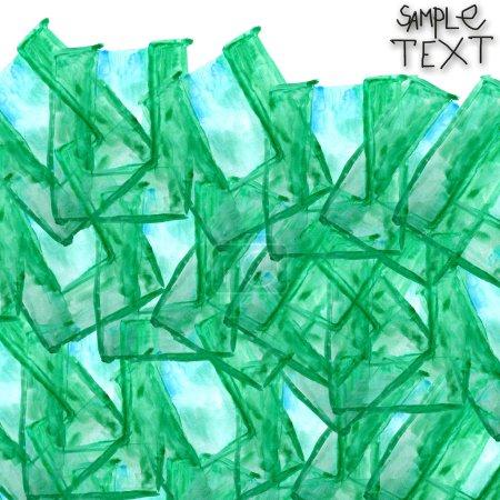 Photo pour Texture Pinceau aquarelle verte d'arrière-plan art main isolé - image libre de droit