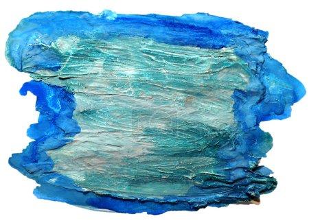 Photo pour Aquarelle bleu isolé sur blanc pour votre conception - image libre de droit