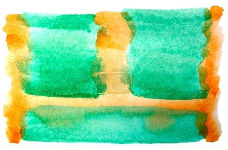 Photo pour Aquarelle brun vert pour votre conception - image libre de droit