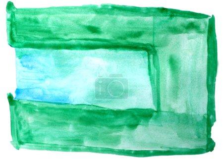 Photo pour Aquarelle bleu vert isolé sur blanc pour votre conception - image libre de droit