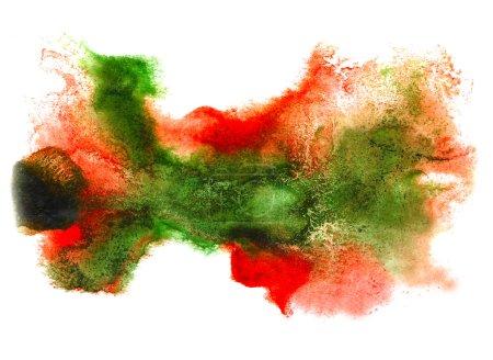 Photo pour Aquarelle vert isolé rouge sur blanc pour votre conception - image libre de droit