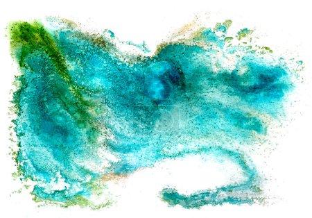 Photo pour Aquarelle isolé sur blanc pour votre dessin bleu - image libre de droit