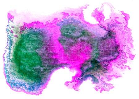 Photo pour Aquarelle isolé sur blanc pour votre design vert violet - image libre de droit