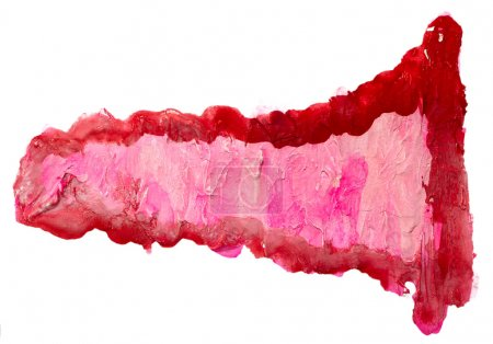 Photo pour Aquarelle isolé rouge pourpre sur blanc pour votre conception - image libre de droit