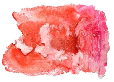 Photo pour Aquarelle isolé rouge rose sur blanc pour votre conception - image libre de droit