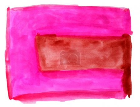 Photo pour Aquarelle brun pourpre, isolé sur blanc pour votre conception - image libre de droit