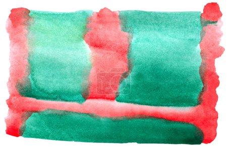 Photo pour Aquarelle vert rouge blanc pour votre conception - image libre de droit