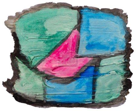Photo pour Aquarelle de rose vert art bleu isolé pour votre conception - image libre de droit