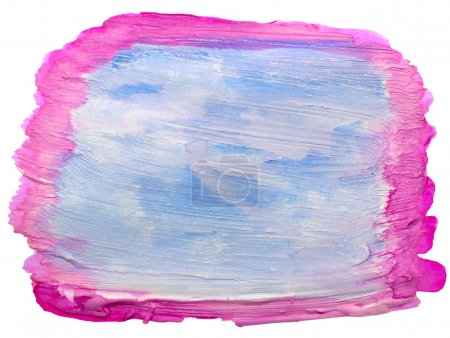 Photo pour Aquarelle bleue, Rose Art, isolé pour votre conception - image libre de droit