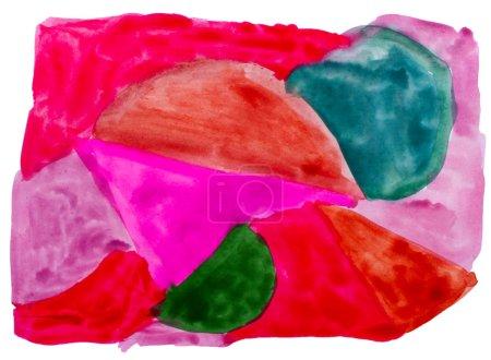 Photo pour Aquarelle brun art rouge, vert, isolé pour votre conception - image libre de droit