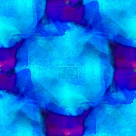 art seamless texture background blue, purple watercolor abstract