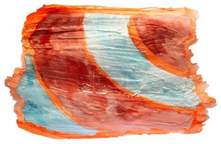 Photo pour Orange de table, carte bleue AVC peinture Pinceau aquarelle isolé - image libre de droit