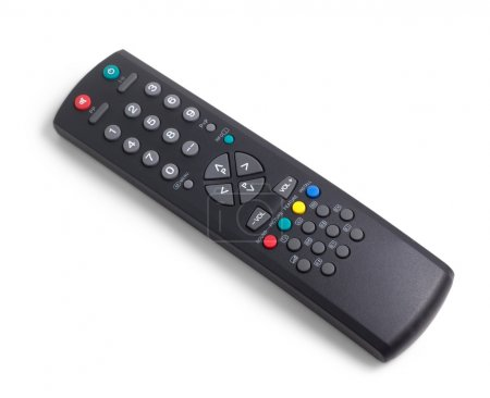tv remote control black on white